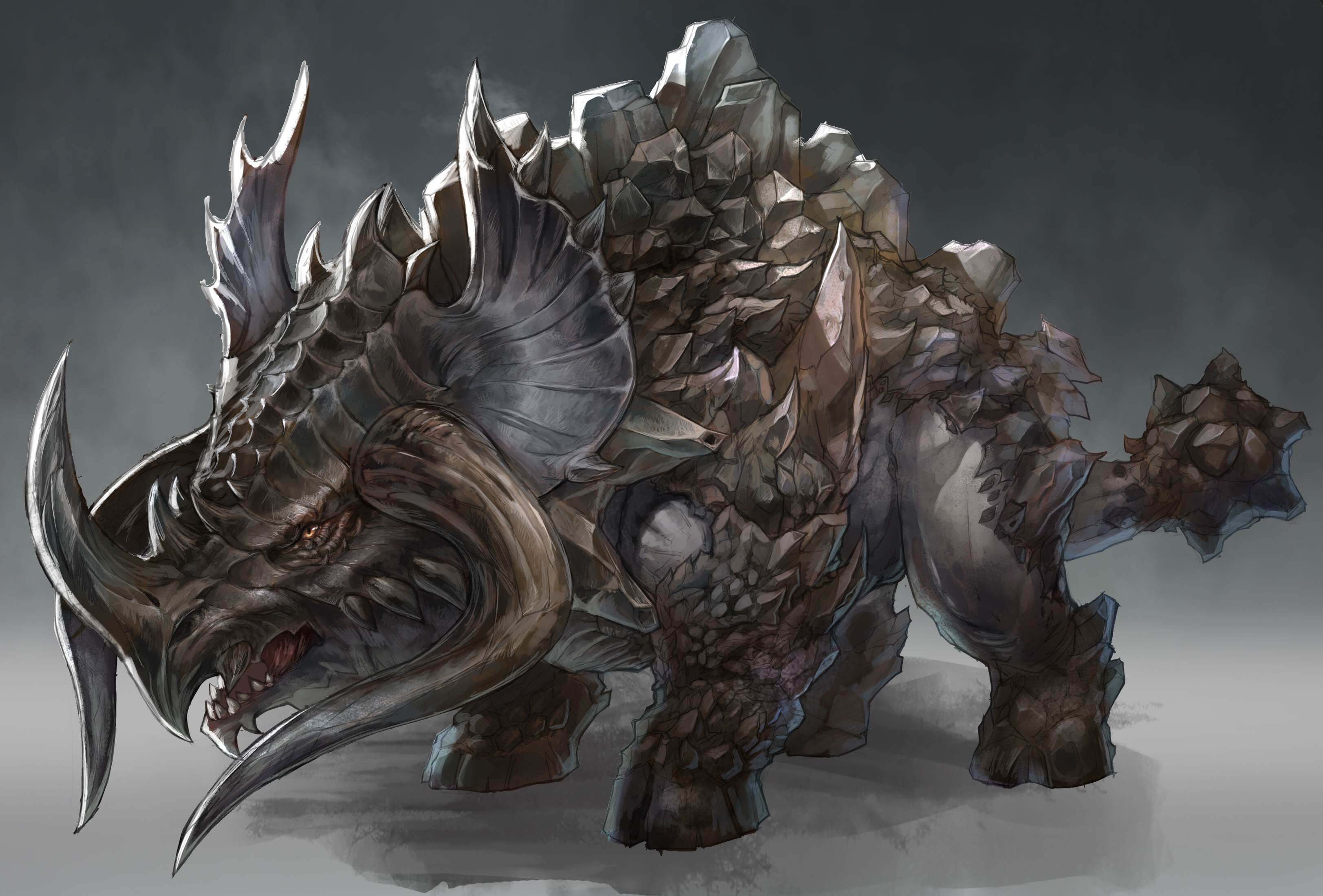 Ascent-Infinite-Realm-Concept-Art-Xumhorn-Dinosaur-like-Creature