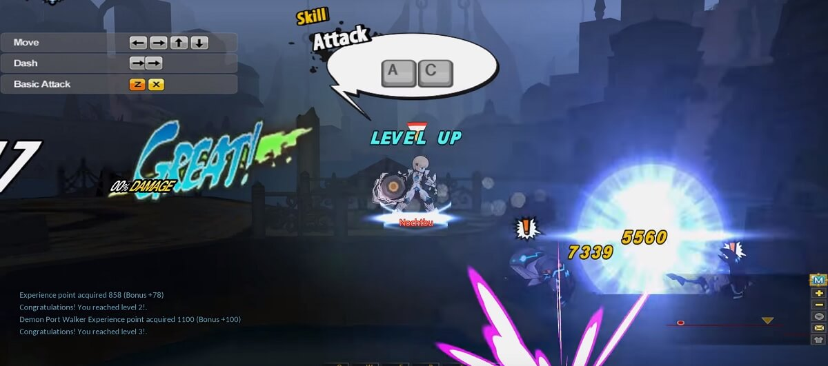 Elsword-Screenshot-Attack-Controls