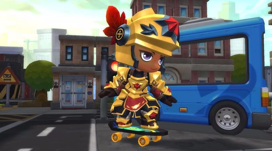 MapleStory-2-Maple-Armor-Outfit-Set-Cape-Adventureres-Skateboard-CBT-Exclusive
