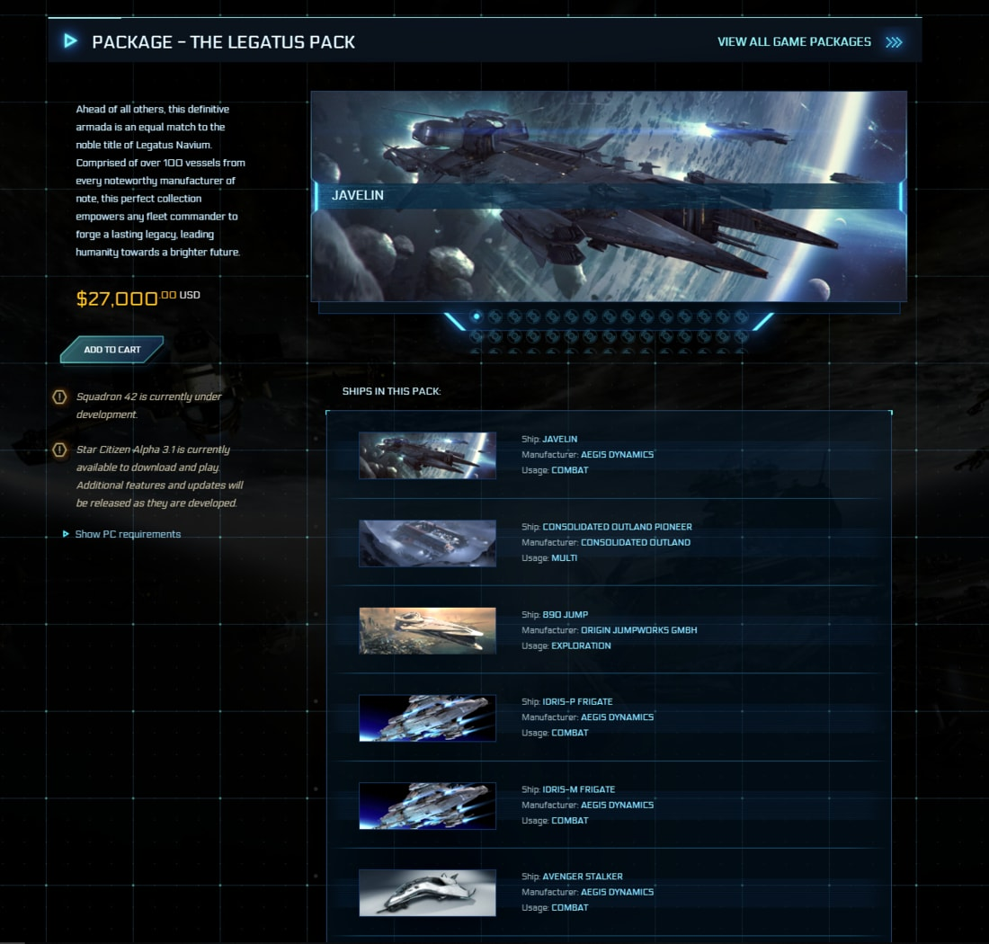 Star-Citizen-The-Legatus-Pack-27000-USD