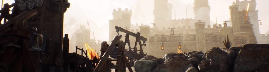Ashes-of-Creation-Castle-Sieges-Gear-Weaponry-Apocalypse-PvP-Mode-Trebuchet-Giant-Bows