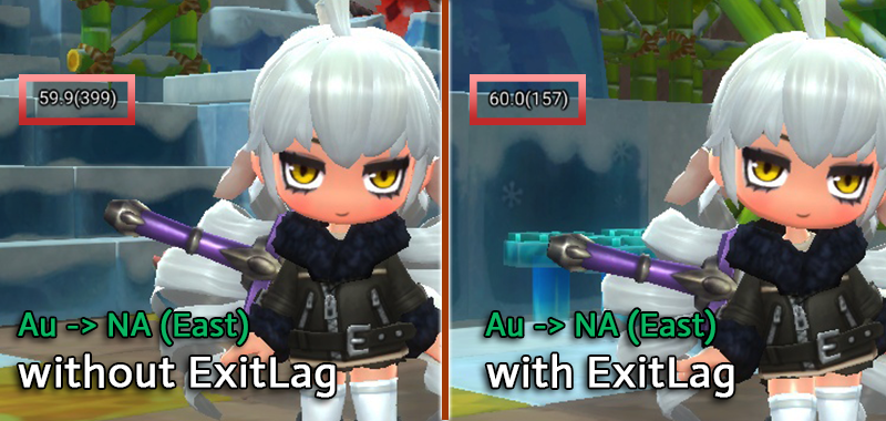 ExitLag-Review-Ping-Difference-On-MMORPG-MapleStory-2-From-Australia-To-NA-East